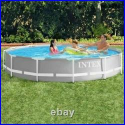 Intex 12Ft Heavy Duty Prism Swimming Pool Outdoor Summer Fun Toy Adults Kids