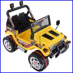 Jeep SUV Kids Ride On Car 12V Electric Battery Parental Remote Control MP3 Input