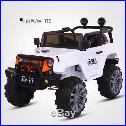 KIDS RIDE ON 2 SEATER JEEP ELECTRIC CHILDRENS 12vBATTERY REMOTE CONTROL TOY CAR