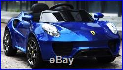 KIDS RIDE ON ELECTRIC CAR FERRARI STYLE NEW FOR 2018 12v BATTERY REMOTE CONTROL