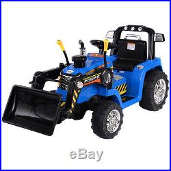 KIDS RIDE ON TRACTOR With LOADER TIPPING BUCKET 12V ELECTRIC BATTERY CHILDREN TOYS
