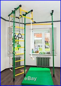 Kid's Home Gym Indoor Playground Set School with Swing Carousel R33