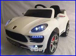 Kids 12v Porsche Macan Cayenne Style Ride On Electric Childrens Remote Toy Car