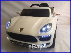 Kids 2018 Porsche Cayenne Style 12v Battery Childs Electric Ride On In Car White