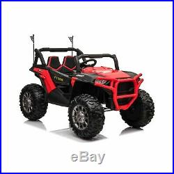 Kids 24v Ride on Buggy Quad Jeep Bike Car ATV All Terrain Big Seats Red + Remote