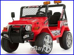 Kids 2 Seater Ride on 12v Electric Battery 4x4 Car Truck Jeep in Red