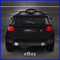 Kids Black Range Rover Sport Style Electric Childs 12v Battery Ride On Jeep Car