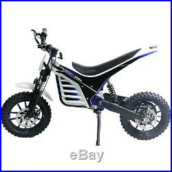 Kids Electric Dirt Bike Epicmoto Lithium Powered 800W 36V Blue
