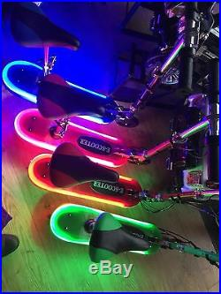 Kids Electric E Scooter With Seat And LED Lights Matching Frame 2020 Model Gift