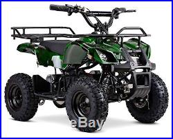 Kids Electric Quad Bike 800w Ranger Automatic Camo Green Battery Rechargeable