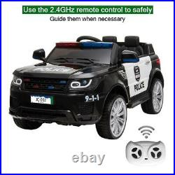 Kids Electric Ride On Police Car 12v Ride On Battery, Remote Control Uk