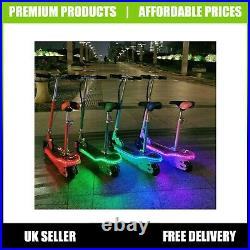 Kids Electric Scooter With LED 120W Childrens E Scooter Seated Girls Boys