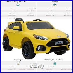 Kids Ford Focus RS Licensed 12V 35W Electric Motor Battery Operated Ride On Car
