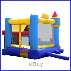 Kids Inflatable Bouncy Castle Moonwalk House Bouncer Play Fun With Colorful Balls