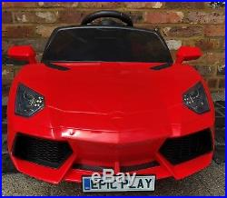 Kids Lamborghini Aventador Style Roadster 12V Battery Electric Ride on Car Red