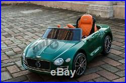 Kids Licensed Bentley EXP 12V Battery Electric Ride On Car Remote Leather Seat