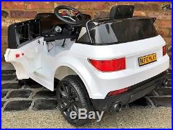 Kids My first Range Rover HSE Sport Style 12v Electric Ride on car White