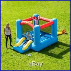 Kids Outdoor Bouncy Castle With Slide And Electric Air Blower Airflow Inflation