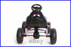 Kids Outdoor Go Kart with Foot Pedal Rubber Air Wheels Gear Brake Lever Model