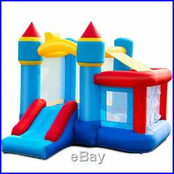 Kids Outdoor Inflatable Bouncy Bounce House Blow Up Castle Slide Basketball Hoop
