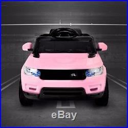 Kids Pink Range Rover Sport Style Electric Childs 12v Battery Ride On Jeep