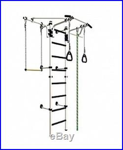 Kids Playground Set, Sport Training Gym Playset with Trapeze Bar, Rings, Rope
