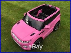 Kids Range Rover HSE Sport Style 12v Electric Battery Ride on Car / Jeep Pink