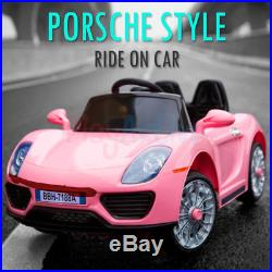 Kids Ride On 12v Electric Porsche Style Battery Remote Control 2.4g Toy Car
