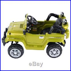 Kids Ride On Car 12V Electric Battery 4CH Remote Control Jeep Children Gift MP3