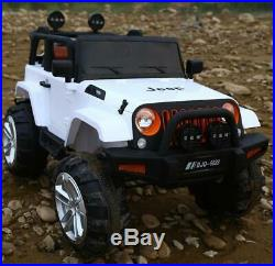 Kids Ride On Car 12v Electric Remote Control Car Jeep Extream 2 Seater Mp3 Toy