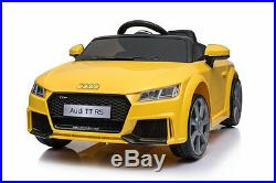 Kids Ride On Licensed Audi Ttrs 12v Electric Childrens Remote Control Toy Car