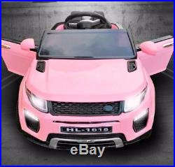 Kids Ride On Range Rover Evoque Car/jeep 12v Electric Battery Childs Pink