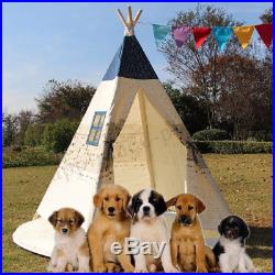 Kids Teepee Wigwam Childrens Play Tent Childs Garden Indoor Toy Playhouse Gift