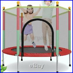 Kids Trampoline Child Playing Jumping Bed Exercise Enclosure Pad Safety Net