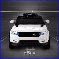 Kids White Range Rover Sport Style Electric Childs 12v Battery Ride On Jeep Car