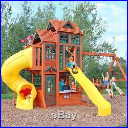 Kids Wooden Outdoor Playground Playhouse Playcentre Capacity 12 Kids Ages 3-10