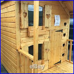 Kids playhouse 6 x 4 + 2ft porch 13mm Chimney not included