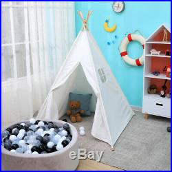 Large Canvas Children Indian Tent Teepee Wigwam Kids Birthday Present Play House