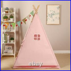 Large Cotton Indian Tent with Led Teepee Kids igwam Indoor Outdoor Play House UK