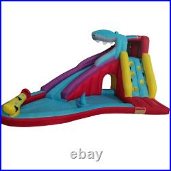 Large Kids Inflatable Water Park with Slide, Pool, Climbing Wall & Spray Cannon