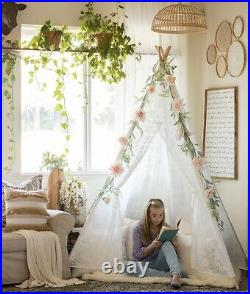 Large Lace Teepee Tent for Adult & Kids for Wedding Party Decor Indoor & Outdoor