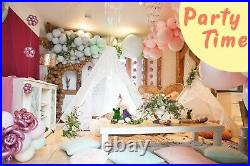 Large Lace Teepee Tent for Adult & Kids for Wedding Party Decor Indoor Outdoor
