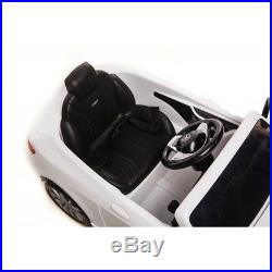Licensed Mercedes S63 Coupe Amg 12v Kids Childrens Ride On Toy Car With Rc White