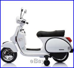 Licensed Vespa PX150 12V Kids Electric Ride On Scooter Battery Powered Motorbike