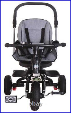 Little Bambino 5 IN 1 Tricycle Stroller Kids Children Baby Toddlers Trike Grey