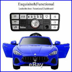 Maserati 12V Licensed Electric Ride On Car Remote Control for Kids Children Blue