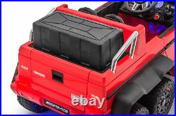 Mercedes G63 Electric Ride on kids Toy Car 6x6 Jeep with Remote Control Red