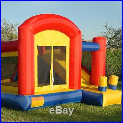 Mighty Bounce House Super Slide Inflatable Kids Jumper without Blower