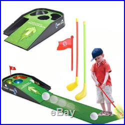 Mini Golf Practice Set Kids Fun Toy With Indoor Putting Game Sounds Club Ball