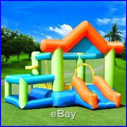 Moonwalk Kids Inflatable Bouncy Castle House Bouncer Jumper With Climbing Slide